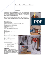 How to make the Dome School Biochar Stove