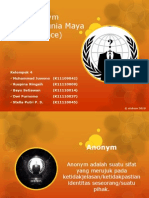 Sifat Anonym Didalam Dunia Maya (Cyber Space)