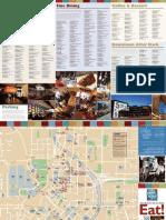 Dinning Map Downtown Atlanta
