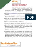 Instructions UPSC 04 2013 Vairous Posts