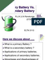 Primary Battery vs Secondary Battery
