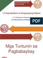 Pangkat V_Alpabeto at Ortograpiyang Filipino_Mga Tuntunin Sa Pagbabaybay_FRESNIDO, John Benjamin