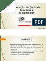 Oracle - Conceptos de Copia de Seguridad y Recuperacion por Billy J. Alva Rosales