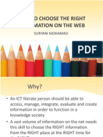 How to Choose the Right Information