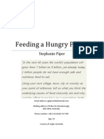 Feeding A Hungry Planet