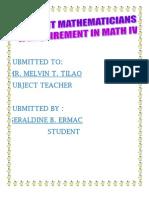 Different Mathematicians 1