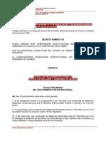 Codigo de Procedimientos Penales Para El Estado Libre y Soberano de Oaxaca.