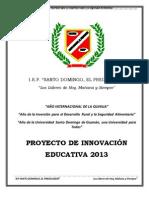 Proyecto de Innovacion 2013