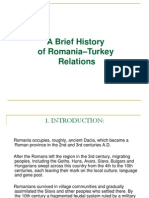 History of Romanian -Turkish Relations
