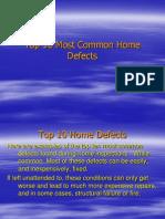 Common Defects