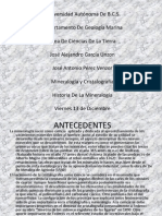 Historia de La Mineralogiaa