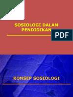 Topik 8 - Sosiologi Dalam Pendidikan