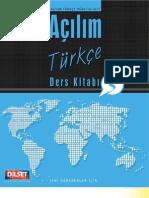 Acilim Turkce Ders Kitabi 3(3 Unite)