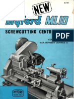 742 ML10 Screwcutting Lathe