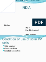 APPLICATION OF SOLAR PVS IN INDIA