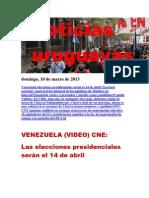 Noticias Uruguayas Domingo 10 de Marzo Del 2013