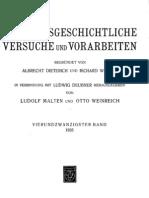 Haussleiter - Vegetarismus in der Antike (1935)