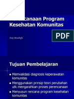 Perencanaan Program Kesehatan Komunitas