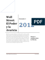 Ensayo Wall Street