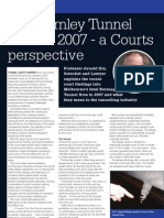 Burnley Tunnel Fire a Courts Perspective Tunneling Journal  March  2013