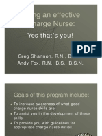 Charge Nurse Guidelines