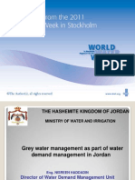 Grey Water Management as Part of Water Demand Management in Jordan
