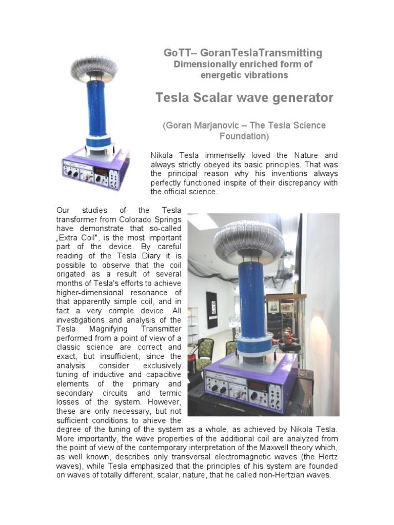 Gott Tesla Scalar Wave Generator Goran Marjanovic