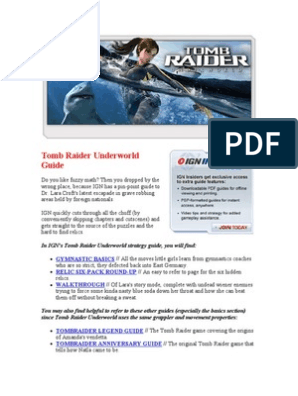 tomb raider underworld xbox 360 walkthrough