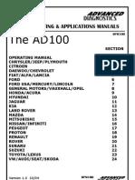 Master Ad 100 Manual