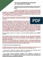 L'ANI « au service de la compétitivité des entreprises et de la sécurisation de l'emploi »