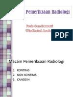 Macam Pemeriksaan Radiologi