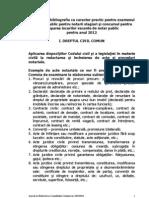 Tematica Examen Si Concurs Practica 2012 notar