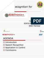 speech recognition for controlor