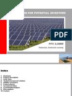 Fotovoltaic Project Romania (Calarasi) 2 MW