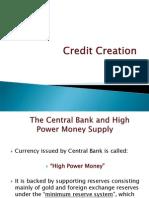 Credit Creation economics for mba
