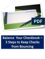 Balance Your Checkbook - 3 Steps to Keep Checks From Bouncing