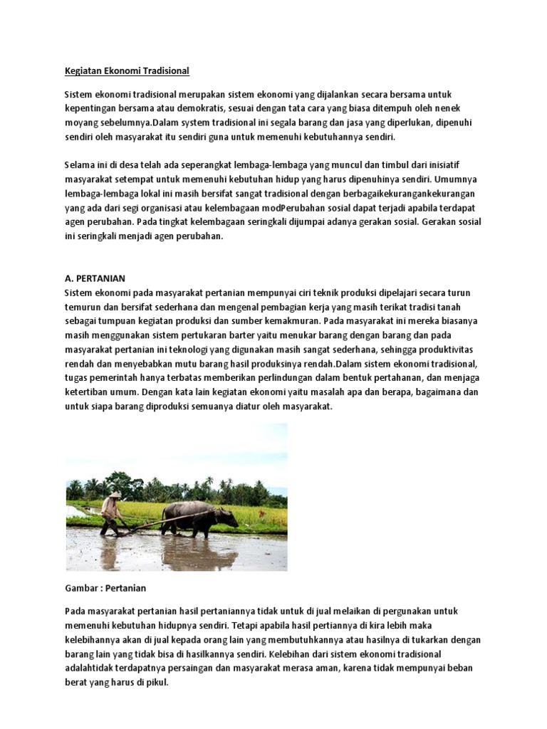 Kegiatan Ekonomi Tradisional Di Malaysia