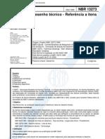 NBR 13273;1999 - Desenho técnico - Referência a itens