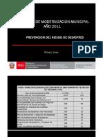 Identificar Zonasvulnerabilidad Riesgos Desastres PMM 2011