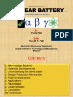 Seminar Presentation on Nuclear Batteries