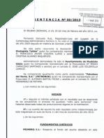 Sentencia contra la planta de COKE. 2013-03-01