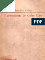 71757561 Jean Yves Calvez El Pensamiento de Carlos Marx