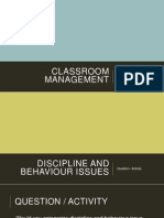 Classroom Management_Discipline and Behaviour Issues