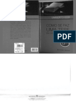 Umberto Eco - Como Se Faz Uma Tese
