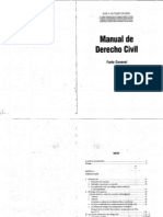 Manual de Derecho Civil - Parte General - Jose a. Buteler Caceres