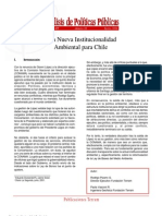 Una Nueva Institucionalidad Ambiental Para Chile