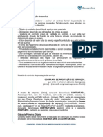 013 Modelo de Contrato de Prestacao de Servico