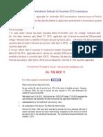 IPCC Service Tax Amendments Nov 2012