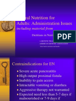 Enteral Nutrition Administration Issues