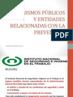 ORGANISMOS PÚBLICOS Y ENTIDADES RELACIONADAS CON LA PREVENCIÓN